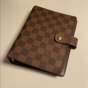 Authentic LV Agenda MM Damier Ebene